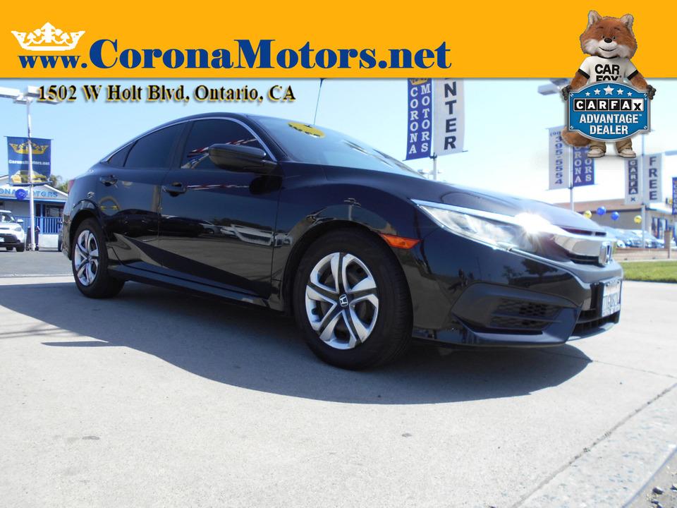 2016 Honda Civic Sedan LX  - 13060  - Corona Motors