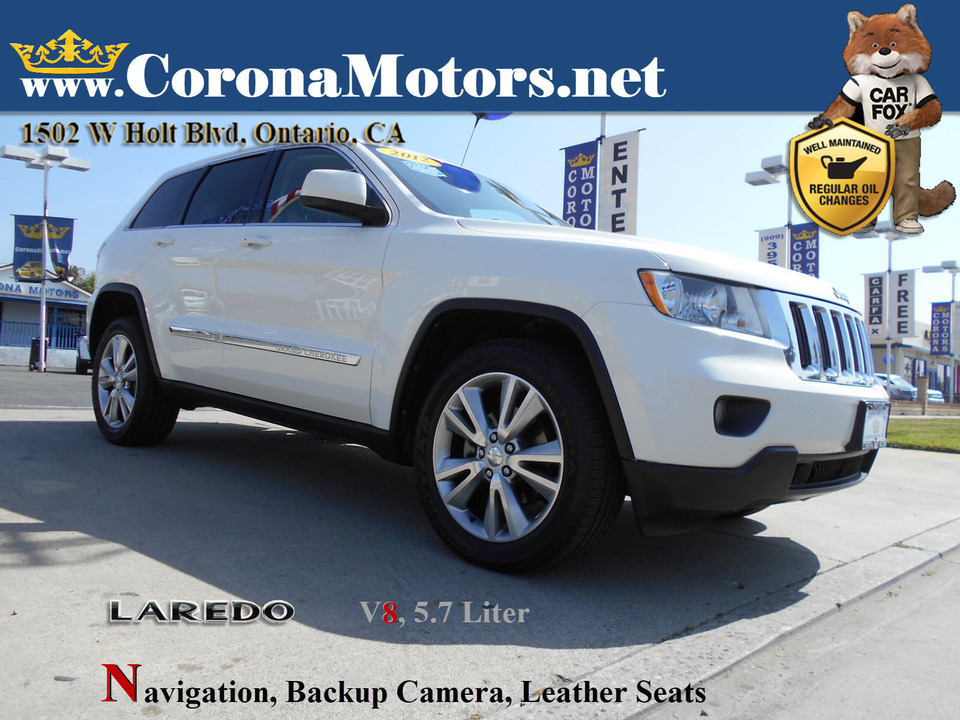 2012 Jeep Grand Cherokee Laredo  - 13080  - Corona Motors