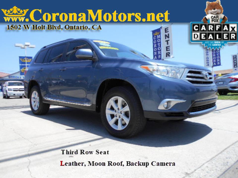 2013 Toyota Highlander SE  - 12825  - Corona Motors