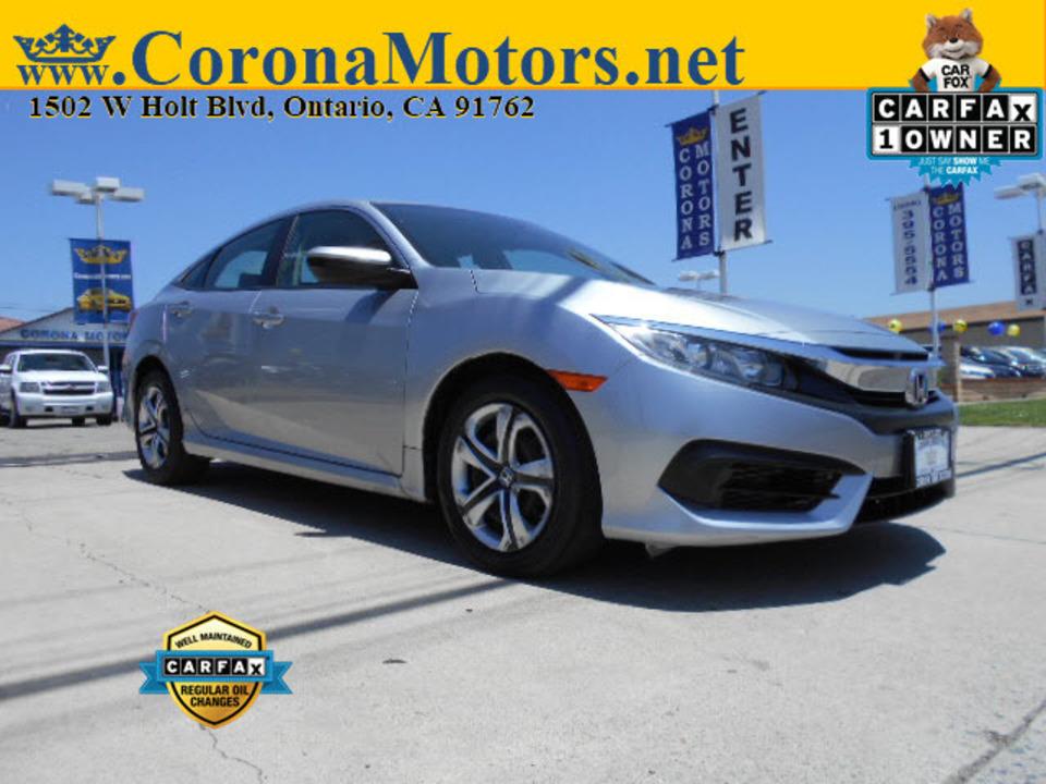 2017 Honda Civic Sedan LX  - 12816  - Corona Motors