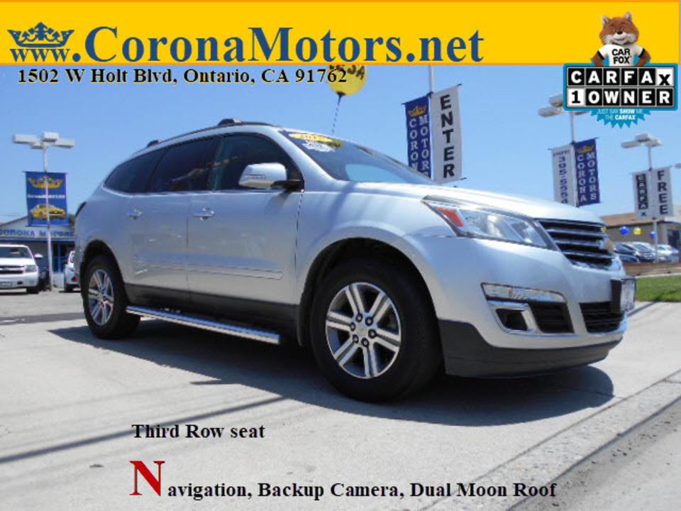 2015 Chevrolet Traverse LT  - 12824  - Corona Motors