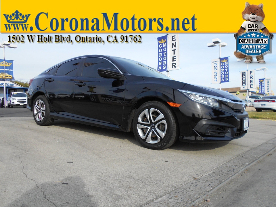2016 Honda Civic Sedan LX  - 12952  - Corona Motors