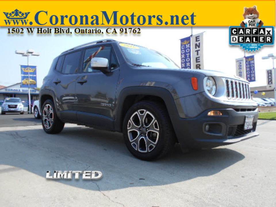 2016 Jeep Renegade Limited  - 12875  - Corona Motors