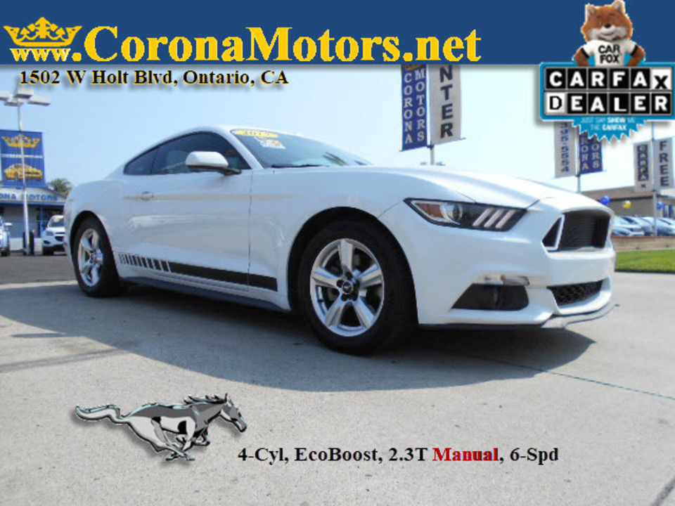 2015 Ford Mustang EcoBoost  - 12868  - Corona Motors