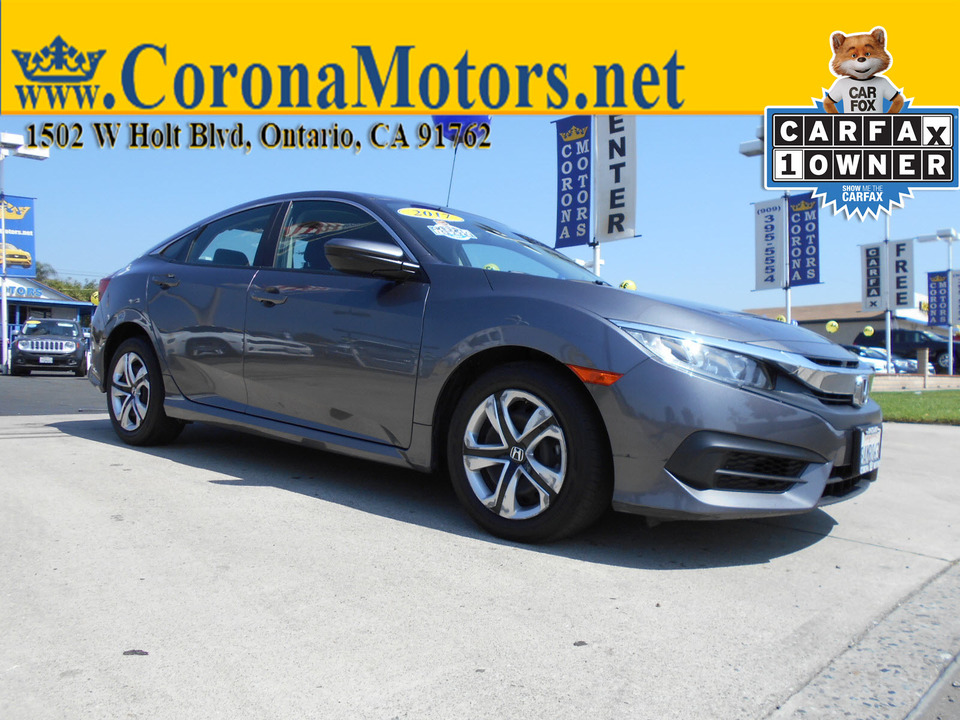 2017 Honda Civic Sedan LX  - 12902  - Corona Motors