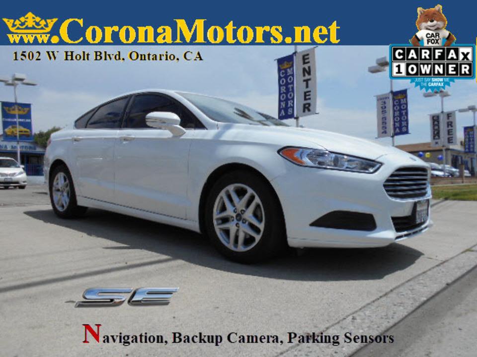 2016 Ford Fusion SE  - 12783  - Corona Motors