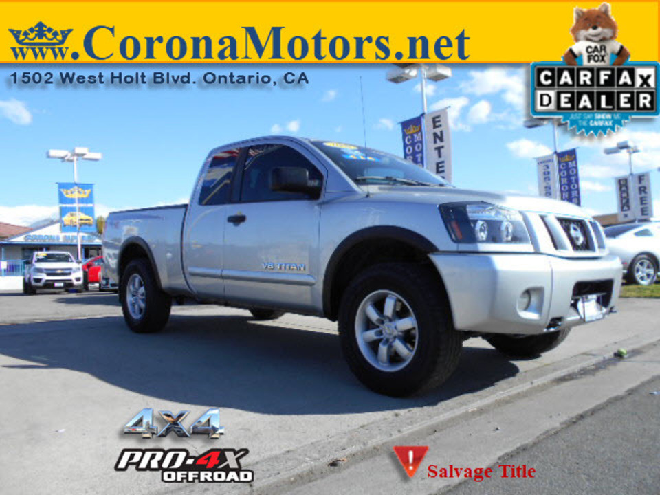 2008 Nissan Titan PRO-4X  - 12646  - Corona Motors