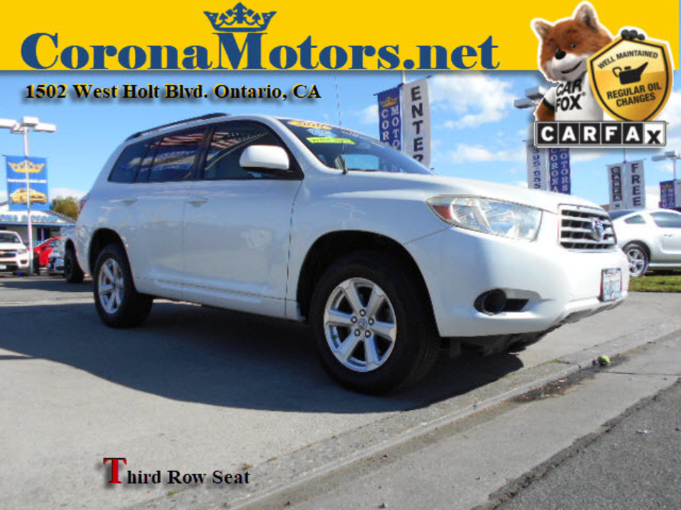 2010 Toyota Highlander Base  - 12681  - Corona Motors