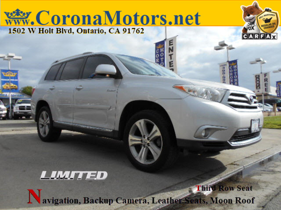 2012 Toyota Highlander Limited  - 12733  - Corona Motors