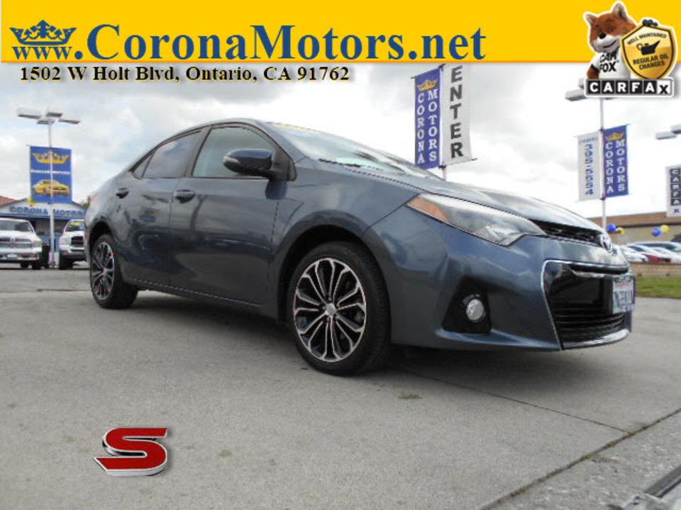 2015 Toyota Corolla S Plus  - 12735  - Corona Motors