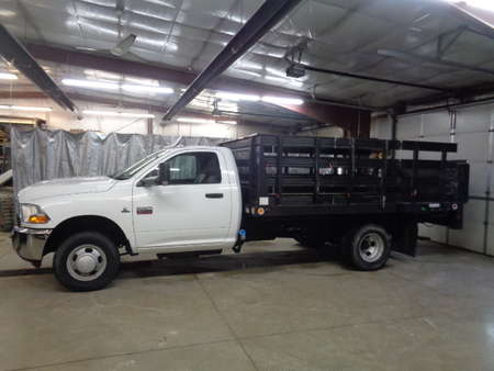 2012 Ram 3500 Regular Cab Chassis Flatbed Diesel Dually 4x4 for Sale  - 486  - West Side Auto Sales