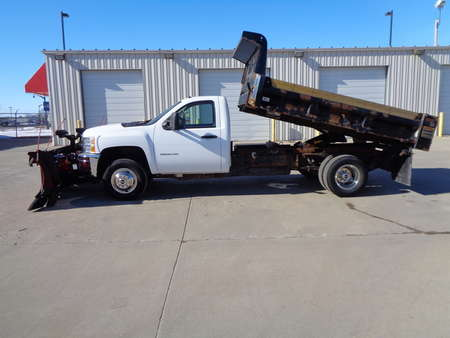 2013 Chevrolet Silverado 3500HD 4x4 Dump Truck Boss 9'2 DXT Poly Plow Dual Trip for Sale  - 2182  - Auto Drive Inc.