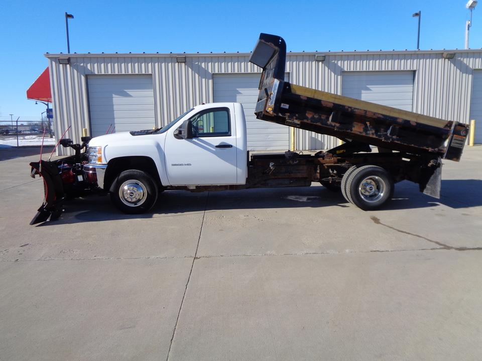 2013 Chevrolet Silverado 3500HD 4x4 Dump Truck Boss 9'2 DXT Poly Plow Dual Trip  - 2182  - Auto Drive Inc.