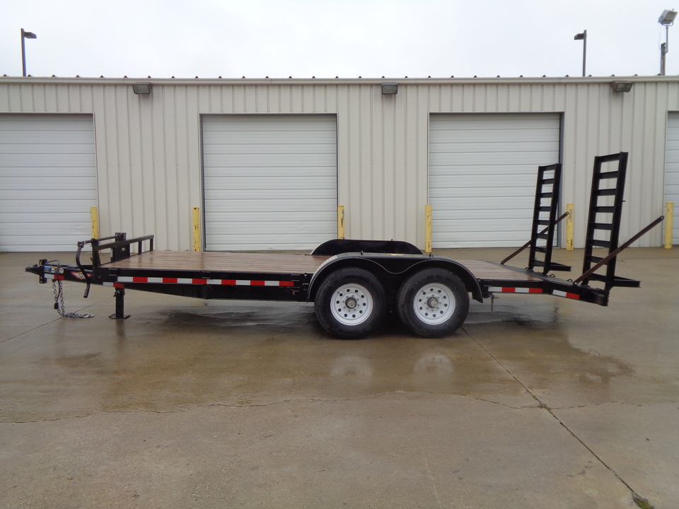 2018 H&H Trailer Fold down Ramps Removable fenders 7000 axles  - 7638  - Auto Drive Inc.