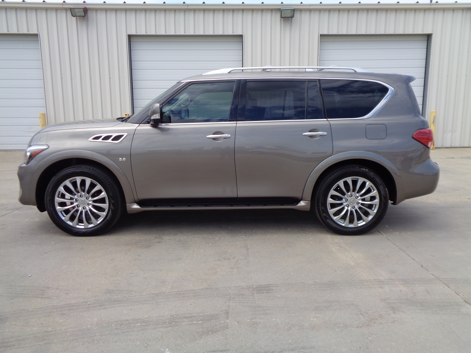 2017 Infiniti QX80 PRICE REDUCED!! Black leather, DVD players, Loaded  - 3289  - Auto Drive Inc.