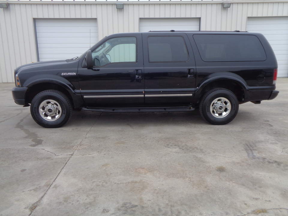 2003 Ford Excursion 6.0 Diesel, Tan Leather Rear Entertainment  - 6365  - Auto Drive Inc.