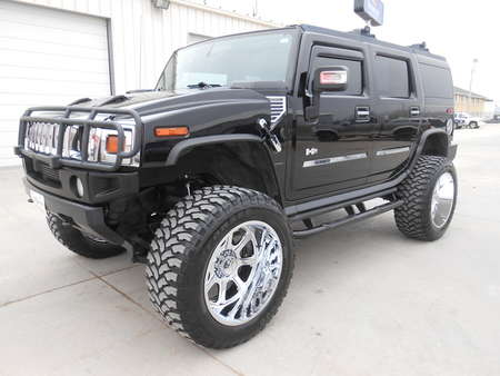 2004 Hummer H2 Gloss Black Hummer.  Moonroof.  Lifted 40's for Sale  - 3333  - Auto Drive Inc.