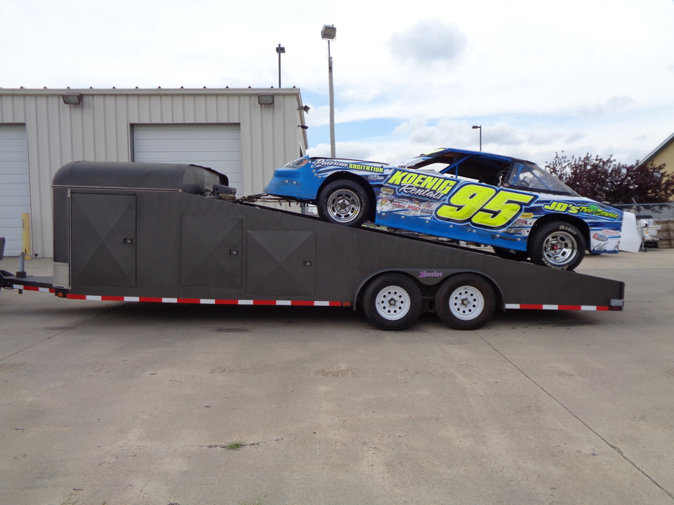 1995 Jensen Racecar Trailer 102 Wide Slant Race Car trailer / Car Trailer.  - 0000  - Auto Drive Inc.