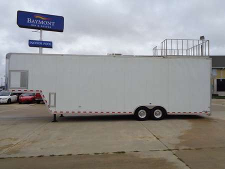 2010 Car Trailer Enclosed Loaded with options! Winch Ramp Overs Cabinets ETC for Sale  - 1081  - Auto Drive Inc.