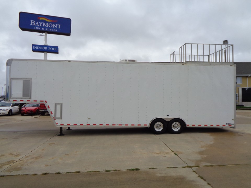 2010 Car Trailer Enclosed Loaded with options! Winch Ramp Overs Cabinets ETC  - 1081  - Auto Drive Inc.