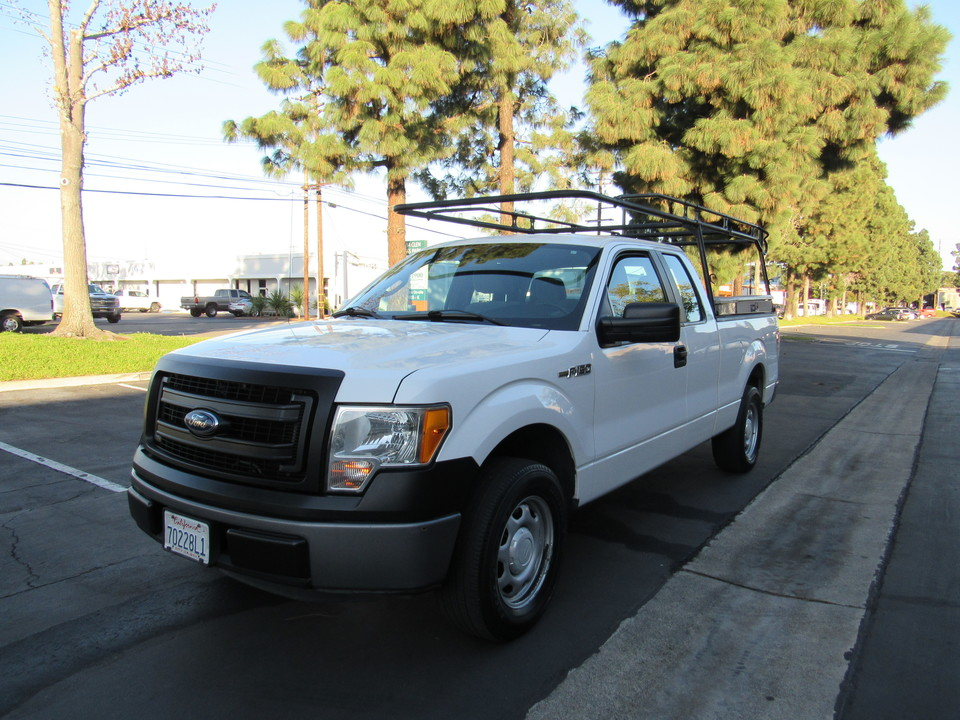 2014 Ford F-150 super cab- short bed-XL -lumber rack & boxes  - 0635  - AZ Motors