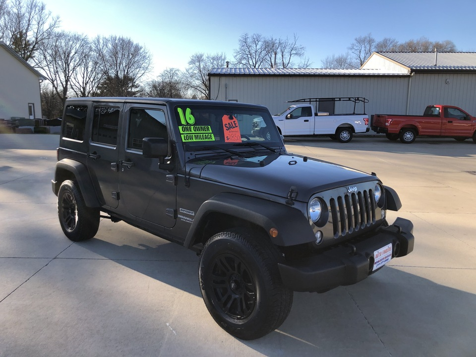 2016 Jeep Wrangler Unlimited Sport  - 220943  - Auto Finders LLC