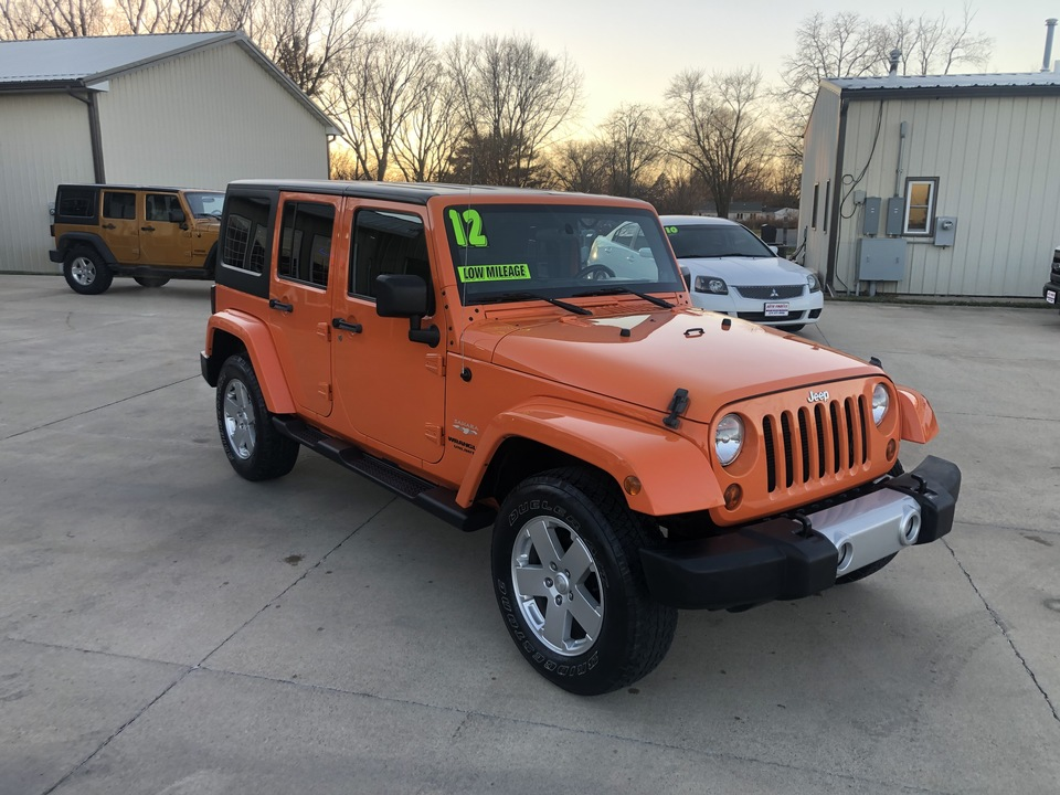 2012 Jeep Wrangler Unlimited SAHARA  - 184355  - Auto Finders LLC