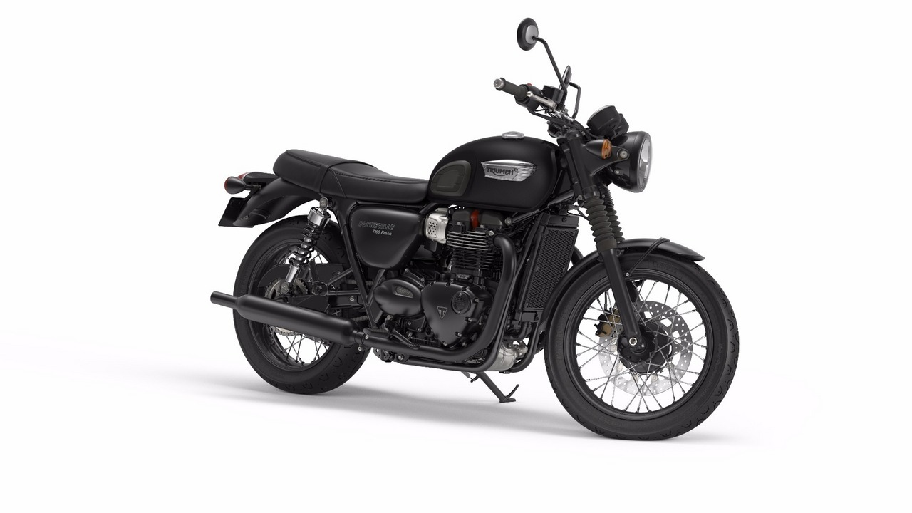 2017 Triumph Bonneville T100 Black Matte Black 0 Apr Stock