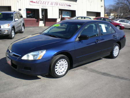 2007 Honda Accord VP Sedan for Sale  - 9981  - Select Auto Sales