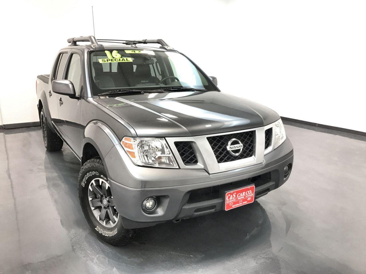 2016 Nissan Frontier Crew Cab 4X4 V6 PRO-4X  - SB8376A  - C & S Car Company