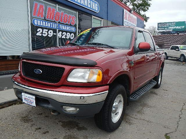 2001 Ford F 150 Supercrew 4wd Crew Cab Stock 10580 Des Moines Ia 50320