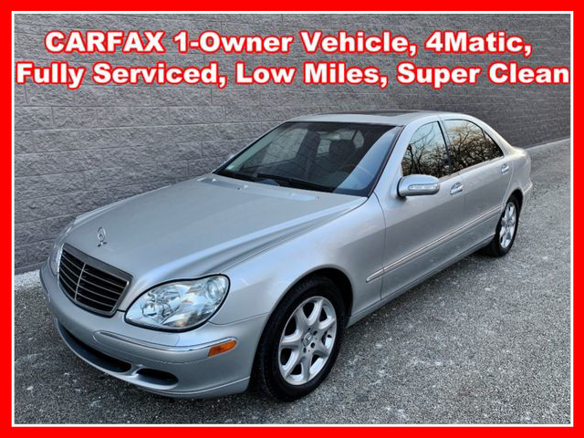 2003 Mercedes-Benz S-Class S 500 4MATIC Sedan 4D AWD  - IA797  - Okaz Motors