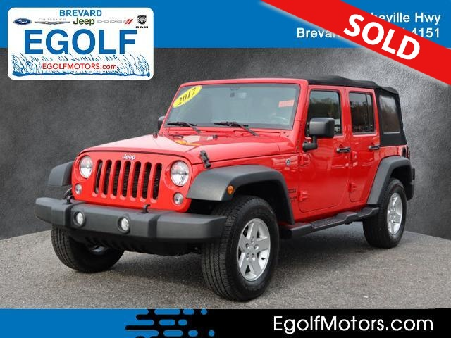 2017 Jeep Wrangler  - Egolf Motors