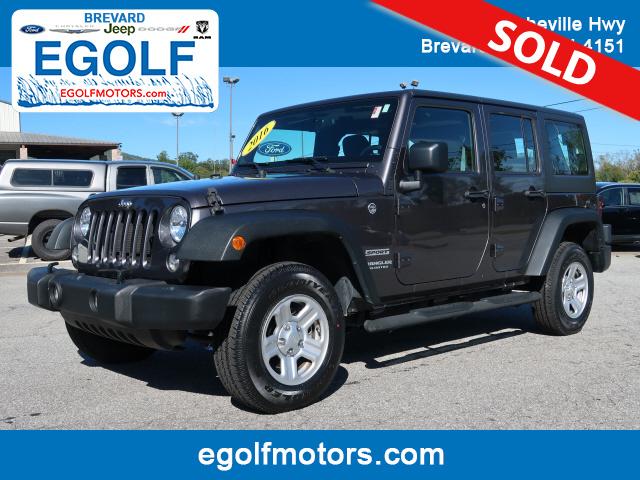 2016 Jeep Wrangler  - Egolf Motors