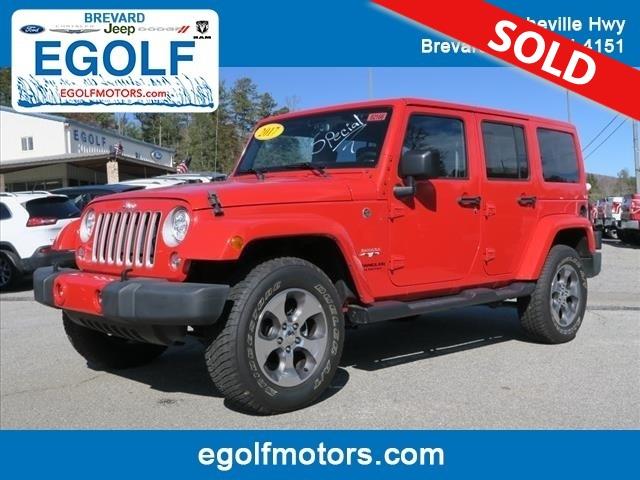2017 jeep wrangler sahara stock 82166 brevard nc for Egolf motors hendersonville nc