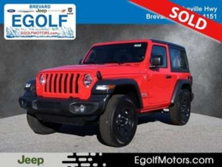 2020 Jeep Wrangler SPORT 4X4 for Sale  - 21824  - Egolf Motors
