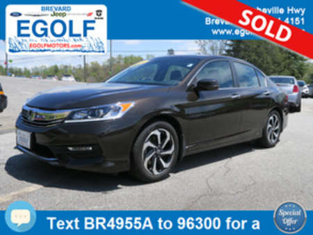 2016 Honda Accord EX-L w/Navi w/Honda Sensing for Sale  - 4955A  - Egolf Motors