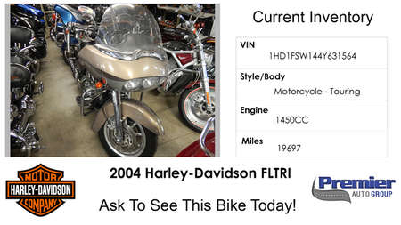 2004 Harley-Davidson FLH  for Sale  - 631564  - Premier Auto Group