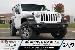 2021 Jeep Wrangler SPORT * VOLANT + SIEGES CHAUFFANTS * TOIT RIGIDE *  - BC-21845  - Blainville Chrysler
