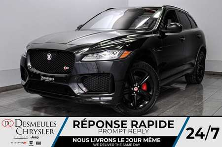2018 Jaguar F-PACE S + toit ouv + volant et bancs chauff + bluetooth for Sale  - DC-L2054  - Desmeules Chrysler