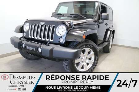 2018 Jeep Wrangler JK SAHARA 4X4 * A/C * BLUETOOTH * CRUISE * NAVIGATION for Sale  - DC-R2738  - Desmeules Chrysler