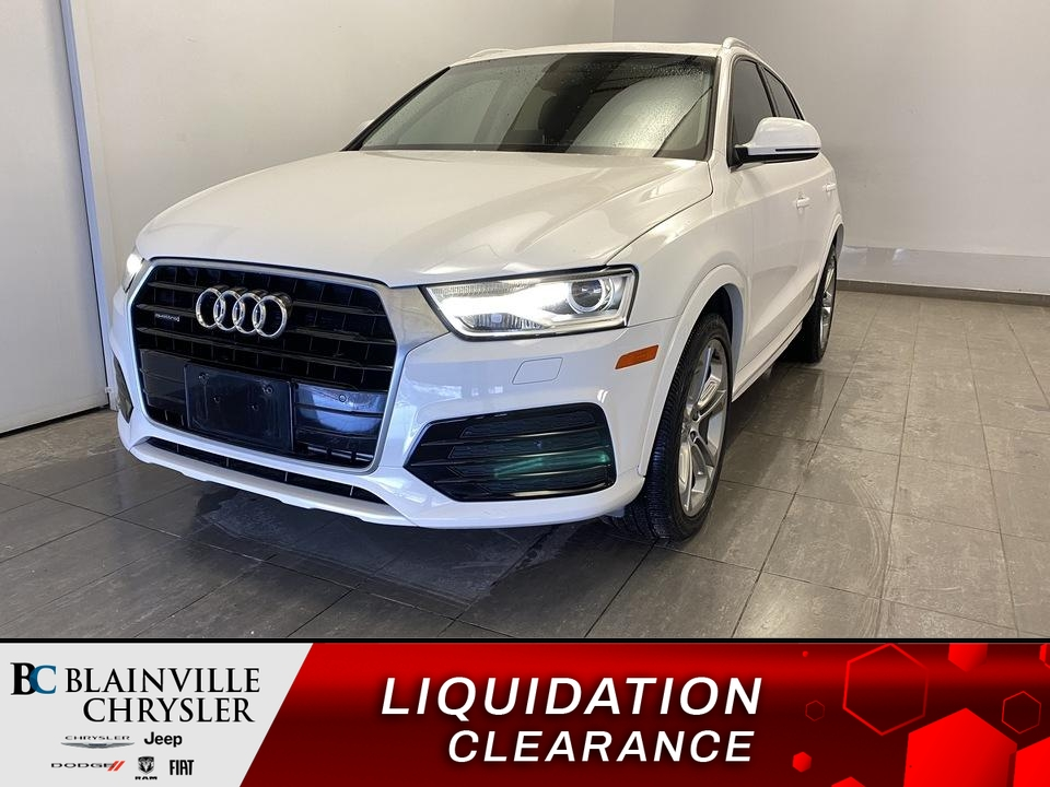 2018 Audi Q3  - Desmeules Chrysler