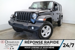 2020 Jeep Wrangler UNLIMITED SPORT 4X4 * UCONNECT 7 PO * CAM RECUL  - DC-21049A  - Desmeules Chrysler