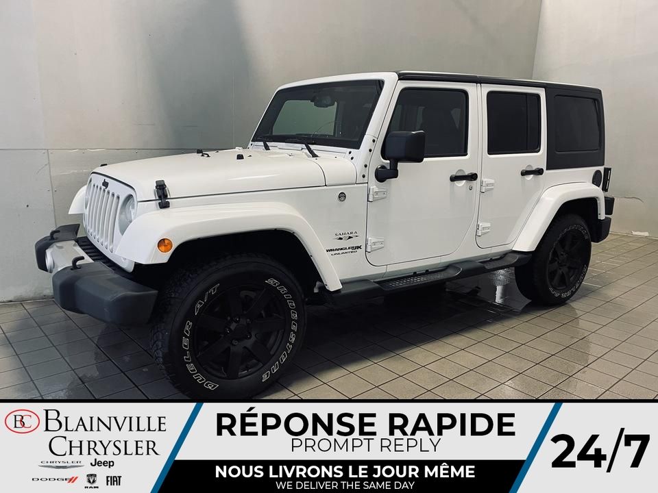 2018 Jeep WRANGLER UNLIMITED SAHARA  - Blainville Chrysler