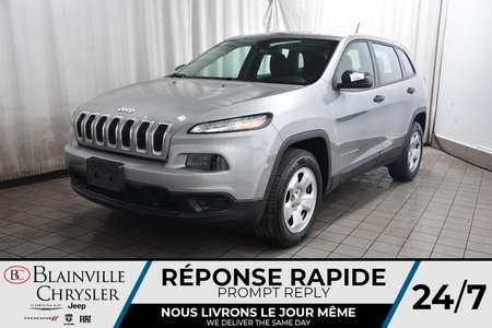 2016 Jeep Cherokee SPORT * 4X4 * BLUETOOTH * A/C * CRUISE for Sale  - BC-P1637  - Desmeules Chrysler