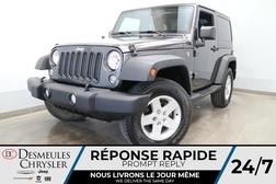 2016 Jeep Wrangler 4WD SPORT * MANUELLE * TOIT RIGIDE * CRUISE *  - DC-S2834  - Desmeules Chrysler