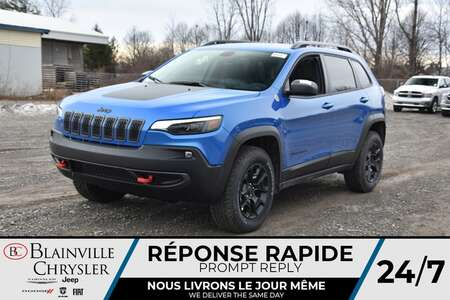 2021 Jeep Cherokee Trailhawk * APPLE CARPLAY * TOIT PANO * CAM RECUL for Sale  - BC-21130  - Desmeules Chrysler
