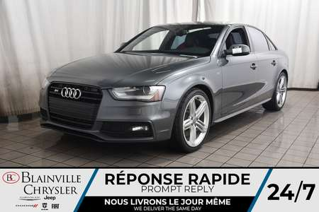 2015 Audi S4 3.0T * PREMIUM PLUS * SIEGES SPORT * for Sale  - BC-C1725  - Blainville Chrysler