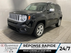 2017 Jeep Renegade Limited* GPS * CAM RECUL * SIEGES/VOLANT CHAUFFANT  - BC-21164B  - Blainville Chrysler