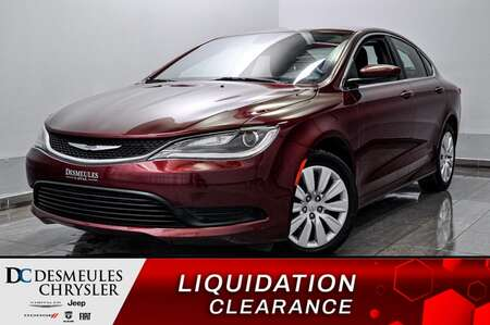 2017 Chrysler 200 LX AUTOMATIQUE * AIR CLIMATISE * GROUPE ELECTRIQUE for Sale  - DC-70466  - Blainville Chrysler